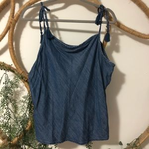 GAP Chambray cami top with ties